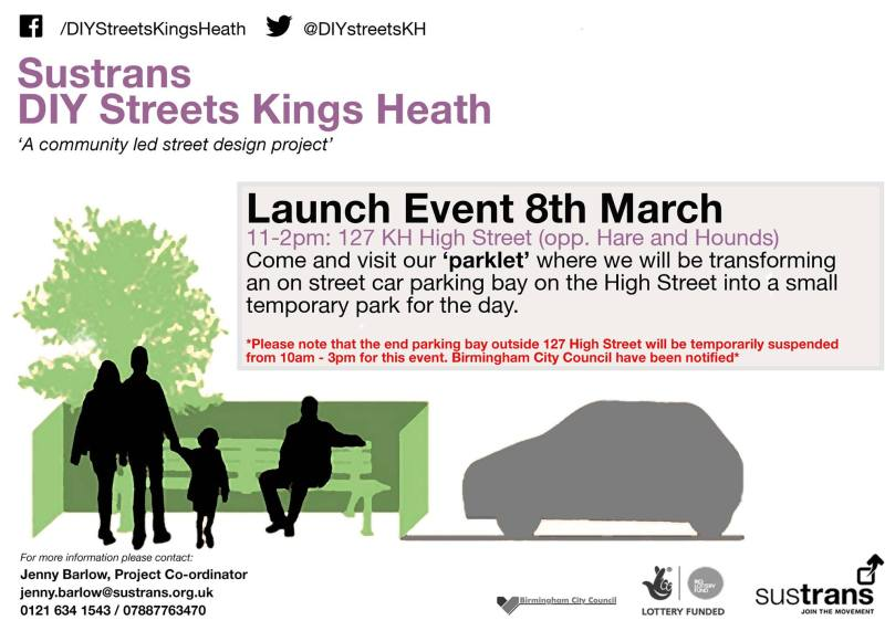 DIY Streets Kings Heath flyer